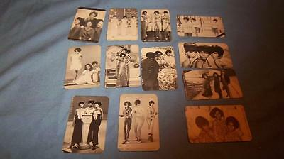 12 Double Sided 1986 Motown Diana Ross & The Supremes Photo Trade Cards