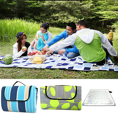 Extra Large Picnic Blanket 200x200 Outdoor Mat Waterproof Pad Camping Suede Rug