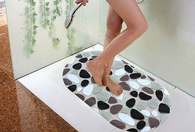 Safe PVC Bathtub Bath Tub Treads Non Slip Applique Sticker Shower Bathroom Mats