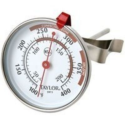 New Taylor 5911N Classic Deep Fry Stainless Thermometer Easy Read Adjustable