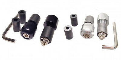 Quantya Strada Black or Silver Aluminium Weighted Bar Ends (13mm/17mm)