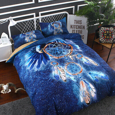 Dreamcatcher Doona Quilt Duvet Cover Set Single Double Queen King Size Bed Linen