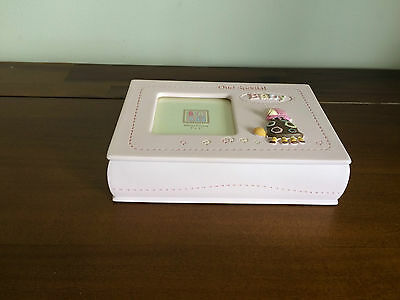 Baby Girl Pink Keepsake Box with Photo Top Newborn Gift