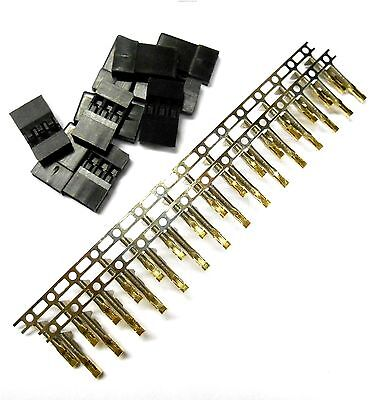 RC JR Set Male Connector Plug Gold Plated 3 Pin x 10