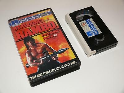 Betamax Video ~ Rambo: First Blood Part II ~ Large Case Ex-Rental Pre-Cert~Thorn