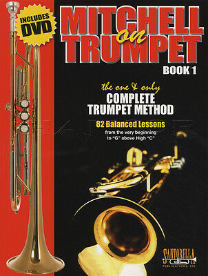 Mitchell on Trumpet 1 Complete Method Sheet Music Book and DVD Learn How to Play