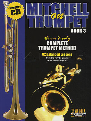 Mitchell on Trumpet 3 Complete Method Sheet Music Book with CD Learn How to Play