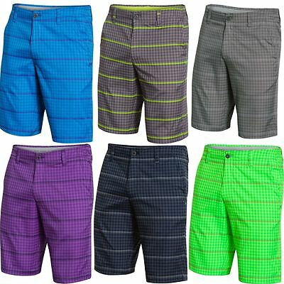 49% OFF Under Armour Match Play Printed Devant Plat Homme Funky Golf Shorts