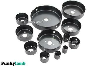 16pc Holesaw Hole Saw Cutter Set Wood Metal Alloy Plastic Down Lighting 19-127mm