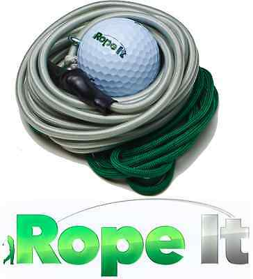 NEW! Rope-It Rope It Back Yard Golf Swing Practice Training Aid No Net Needed!