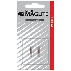MagLite Replacement Mini-Mag AA Bulbs - 2 Pack #LM2A001