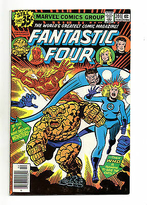 Fantastic Four Vol 1 No 203 Feb 1979 (VFN+) Marvel, Bronze Age (1970 - 1979)