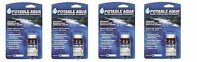 ''POTABLE AQUA''Water Purification- Made in the U.S.A.- 4 Bottles of 50 Tablets