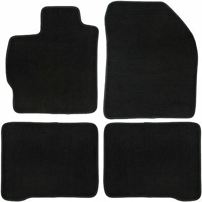 UAA Custom-fit Black Carpet Car Floor Mats Set for Toyota Prius 2010-2014