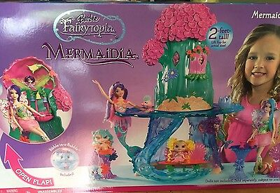 2005 Mattel Barbie Fairytopia Mermaidia Playset 2 feet tall! New in box