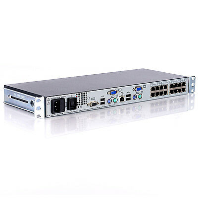 HP AF617A 16 Port KVM Server Console Switch with Rack Ears 513736-001