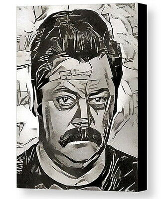Framed Ron Swanson Parks and Recreation Abstract 9X11 Art Print Limited Edition