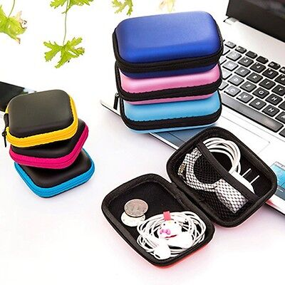 1PC Earphone Data Wire Cables Phone Charger Digital Storage Box Package 12x8.5cm
