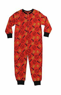 Boy's Girl's Manchester United FC Football Team Red Cotton Sleepsuit All in One