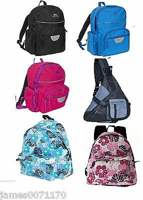 f6cf475f9b TRESPASS BAG BACKPACK Rucksack travelling holidays Bag Kids school ...