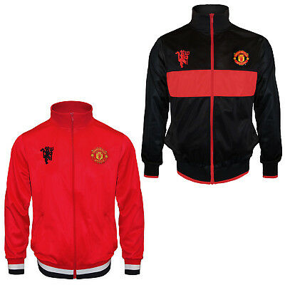 Manchester United FC Official Football Gift Boys Retro Track Jacket