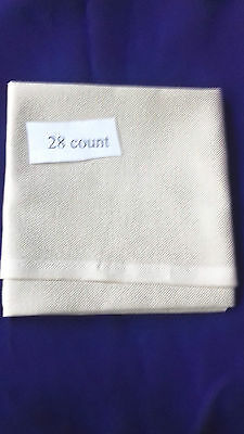 A Piece of 28 count Dark Cream Jobelan 18 X 12 inches