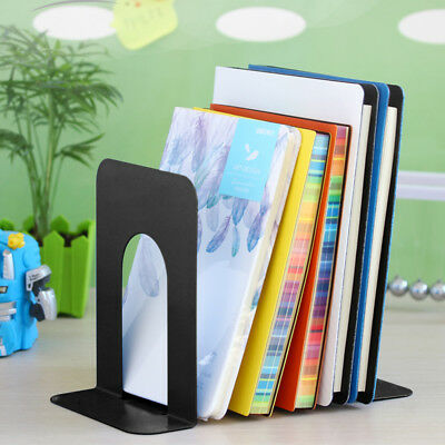 "4 Pairs 8"" Heavy Duty Metal Bookends Book Ends Home Office Supplies Stationery"