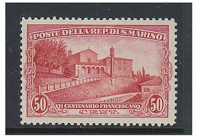 San Marino - 1928, 50c St. Francis of Assisi stamp - L/M - SG 141