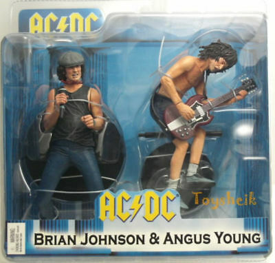 Ac/dc Box Set Brian Johnson & Angus Young Action Figure 2 Pack Deluxe