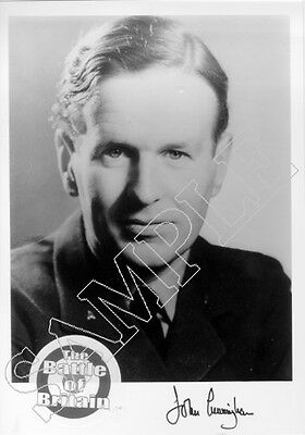 SPBB04 WWII WW2 RAF Battle of Britain pilot CUNNINGHAM DSO DFC hand signed photo