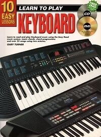 10 EASY LESSONS Keyboard Book + CD & DVD*