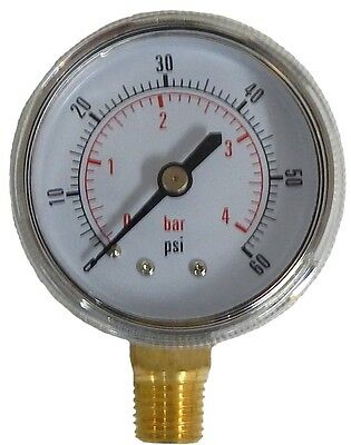 Co2 Draft Beer Part Regulator Replacement Gauge - STAINLESS STEEL JACKET - 624 -