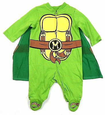 Newborn Infant Teenage Mutant Ninja Turtles Creeper with Cape Baby Sleeper