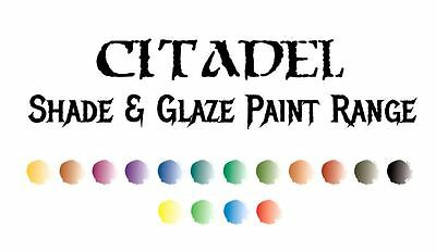 Citadel Glazes & Shades Games Workshop Milti-Listing - INCLUDES 24ml SIZED POTS