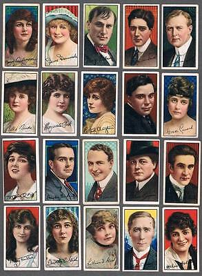 1925 ITC C93 Movie Stars Tobacco Cards Complete Set of 50