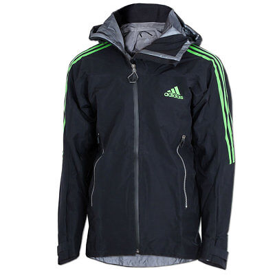 adidas Herren Terrex Advanced Jacke Gore-Tex Pro Shell Outdoor schwarz-grün