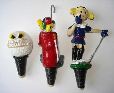 Gift - Novelty Wine Bottle Stoppers - Golf Ball, Bag, & Playmate - Club Shoe Cap