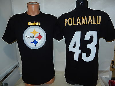 81009 Pittsburgh Steelers TROY POLAMALU Football Jersey Shirt BLACK New BLOWOUT