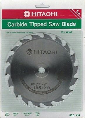 "Hitachi 7-1/4"" Carbide Tipped Saw Blade 18 Teeth 5/8"" (HITACHI-302410)"