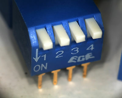 10 x ECE EPG104 4 way piano style DIP switch