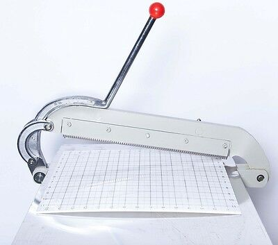 """industrial, heavy duty Swatch Cutter Cloth Leather Sample 16"""" with table & stand"""