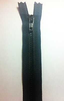 "YKK #3 PLASTIC MOLDED zippers,black COLOR,6"" X 1"" wide & 8"" overall ,100 PIC,"