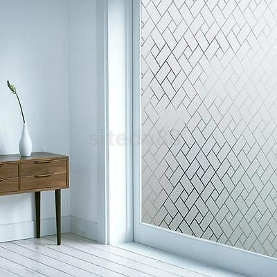 Static Cling Glass Window Film Sticker Privacy Frosted Waterproof Geometric