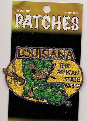 Souvenir Patch State Of Louisiana - Pelican State - Baton Rouge