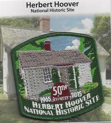 SOUVENIR  PATCH - HERBERT HOOVER NATIONAL HISTORIC SITE, 50th ANNIVERSARY