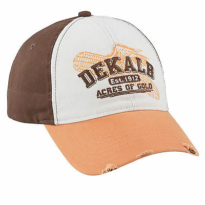 DEKALB SEED *WHITE BROWN & YELLOW Acres of Gold* Logo CAP HAT *BRAND NEW* DS32