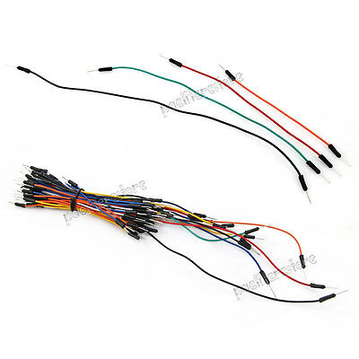 65Pc Mixed Color Male to Male Solderless Flexible Breadboard Jump Cable Wires