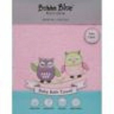 Brand New Bubba Blue Baby 100 % Cotton Bath Towel Baby Girl Owl