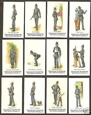 Faulkner cigarette cards - POLICE TERMS - Full mint condition set