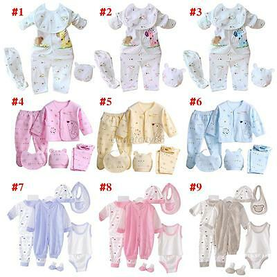 Newborn Baby Cotton Monk Shirt +Pants +Hat+Bid Suits Infant Clothes 5 Pcs/Set